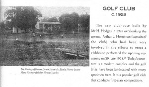 Article citing the new Club House 1928