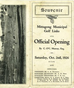highlands golf club opening souvenir